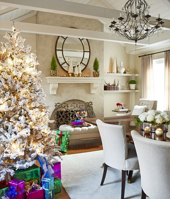 Elegant Holiday Decor in Living Colour